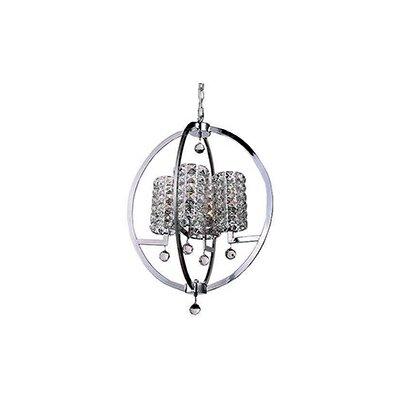 Mcdowell Glam Industrial 4-Light LED Crystal Pendant