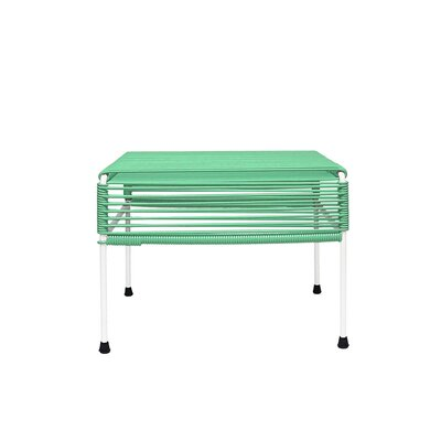 Cobbey Cocktail Ottoman Finish: White/Mint