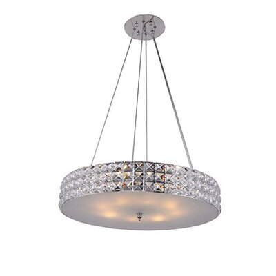 Mcdowell Glam Industrial 3-Light LED Drum Pendant