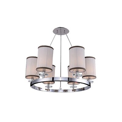 Mcdowell Glam 6-Light LED Candle-Style Chandelier