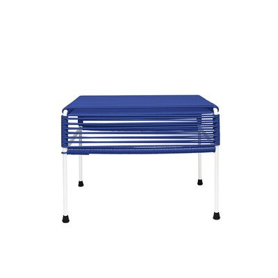 Cobbey Cocktail Ottoman Finish: White/Deep Blue