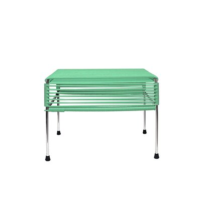 Cobbey Cocktail Ottoman Finish: Chrome/Mint