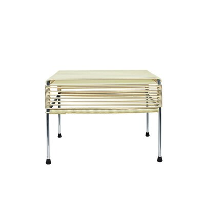 Cobbey Cocktail Ottoman Finish: Chrome/Ivory
