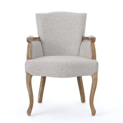 Prejean Upholstered Arm Chair Upholstery Color: Beige