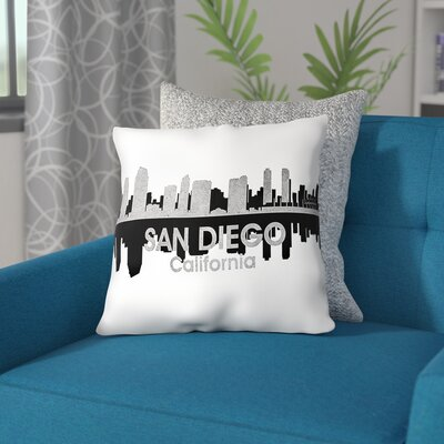 San Diego California Throw Pillow Size: 16 H x 16 W x 4 D