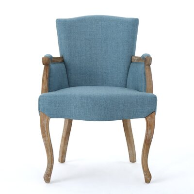 Prejean Upholstered Arm Chair Upholstery Color: Blue