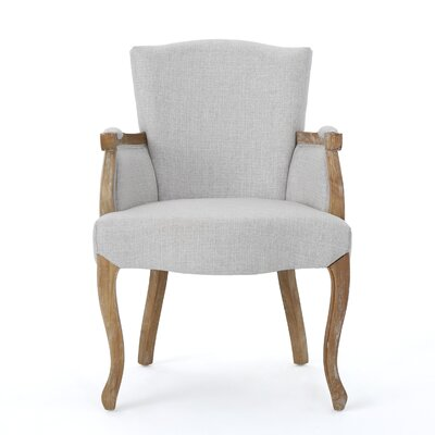 Prejean Upholstered Arm Chair Upholstery Color: Light Gray