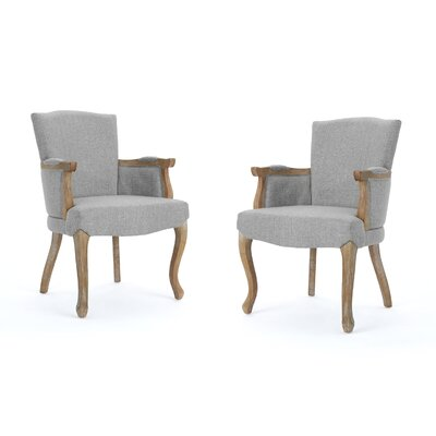 Prejean Upholstered Dining Chair Upholstery Color: Gray