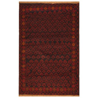 One-of-a-Kind Ebron Hand-Knotted Wool Navy Area Rug
