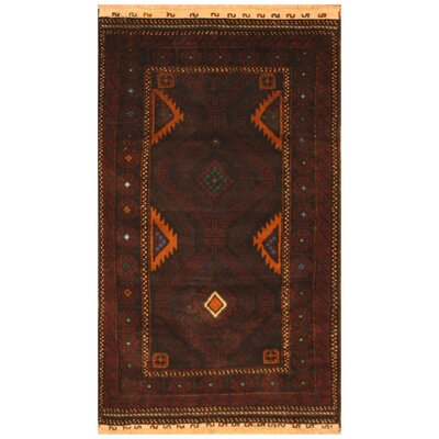 One-of-a-Kind Ebron Hand-Knotted Wool Brown Area Rug