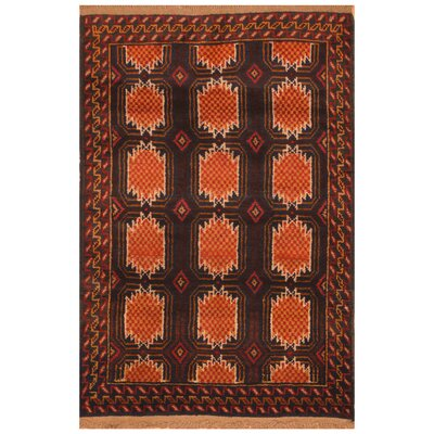 One-of-a-Kind Ebron Hand-Knotted Wool Brown/Orange Area Rug