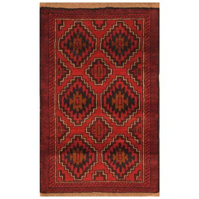 One-of-a-Kind Ebron Hand-Knotted Wool Red Area Rug