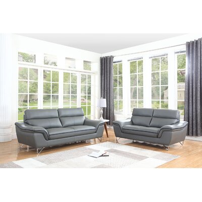 Trower 2 Piece Living Room Set Upholstery: Gray