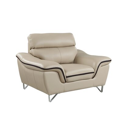 Hawks Upholstered Living Room Club Chair Upholstery: Beige