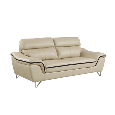 Hawks Luxury Upholstered Living Room Sofa Upholstery: Beige