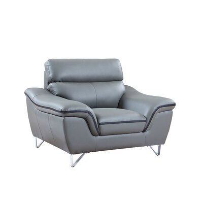 Hawks Upholstered Living Room Club Chair Upholstery: Gray