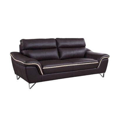 Hawks Luxury Upholstered Living Room Sofa Upholstery: Brown