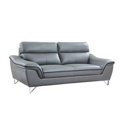 Hawks Luxury Upholstered Living Room Sofa Upholstery: Gray