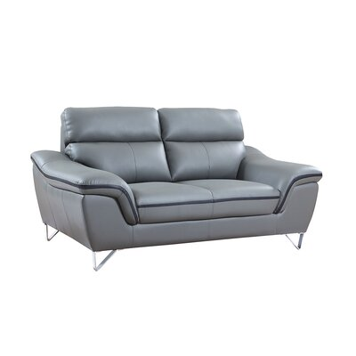 Hawks Luxury Upholstered Living Room Loveseat Upholstery: Gray