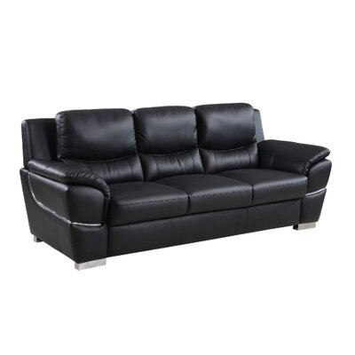 Henton Luxury Upholstered Living Room Sofa Upholstery: Black