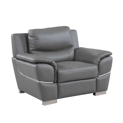 Henton Luxury Upholstered Living Room Club Chair Upholstery: Gray