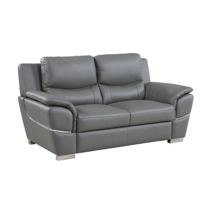 Henton Luxury Upholstered Living Room Loveseat Upholstery: Gray