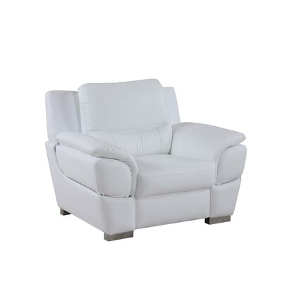 Henton Luxury Upholstered Living Room Club Chair Upholstery: White
