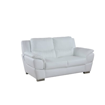 Henton Luxury Upholstered Living Room Loveseat Upholstery: White