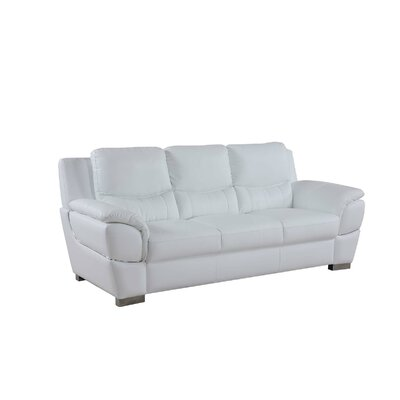 Henton Luxury Upholstered Living Room Sofa Upholstery: White
