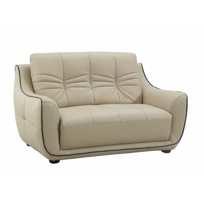 Henthorn Upholstered Living Room Loveseat Upholstery: Beige