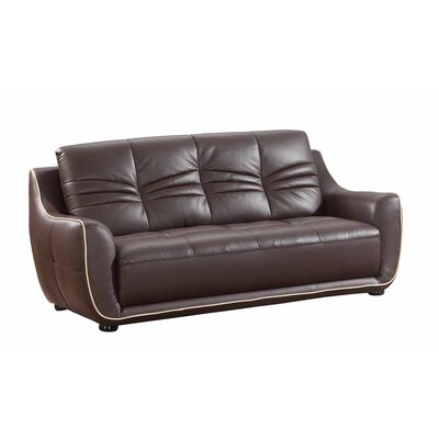 Henthorn Upholstered Living Room Sofa Upholstery: Brown