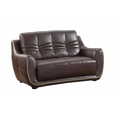 Henthorn Upholstered Living Room Loveseat Upholstery: Brown