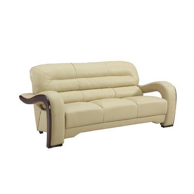 Hawkin Luxury Upholstered Living Room Sofa Upholstery: Beige