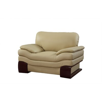 Hawthorn Luxury Upholstered Living Room Club Chair Upholstery: Beige