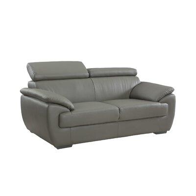 Haworth Luxury Upholstered Living Room Loveseat Upholstery: Gray