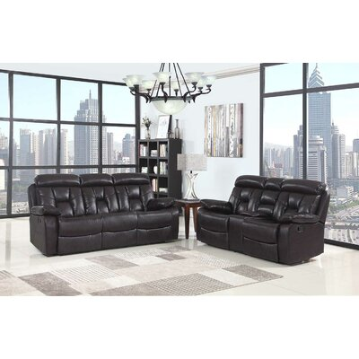 Claverton Down Air Upholstered 2 Piece Living Room Set Upholstery: Brown
