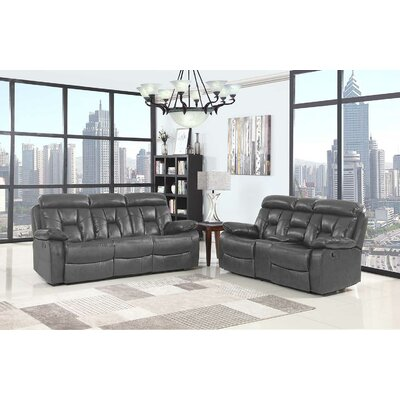 Claverton Down Air Upholstered 2 Piece Living Room Set Upholstery: Gray