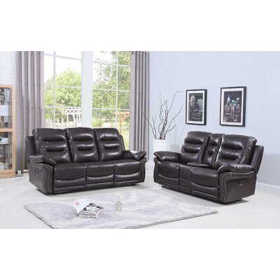 Ullery Upholstered 2 Piece Living Room Set Upholstery: Brown