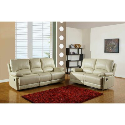Trower Upholstered 2 Piece Living Room Set Upholstery: Beige