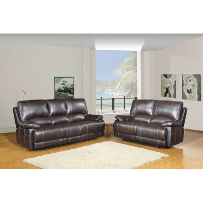 Trower Upholstered 2 Piece Living Room Set Upholstery: Brown