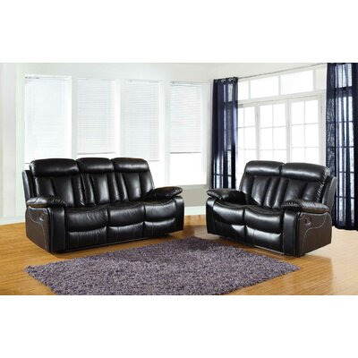 Trower Upholstered 2 Piece Living Room Set Upholstery: Black