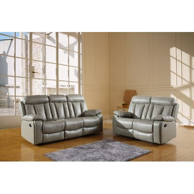 Trower Upholstered 2 Piece Living Room Set Upholstery: Gray