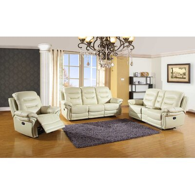 Trower Upholstered 3 Piece Living Room Set Upholstery: Beige
