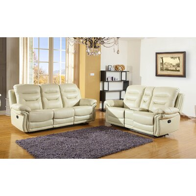 Ullery Upholstered 2 Piece Living Room Set Upholstery: Beige