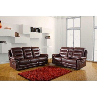 Ullery Upholstered 2 Piece Living Room Set Upholstery: Burgundy