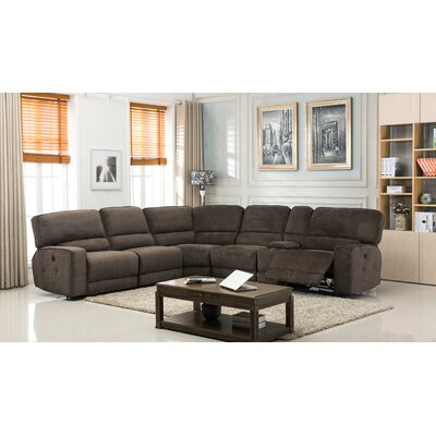 Tumlin Fabric Upholstered Power Reclining Sectional