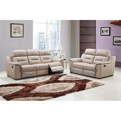 Kreger Air Upholstered 2 Piece Living Room Set Upholstery: Beige