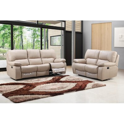 Claverton Air Upholstered 2 Piece Living Room Set Upholstery: Beige