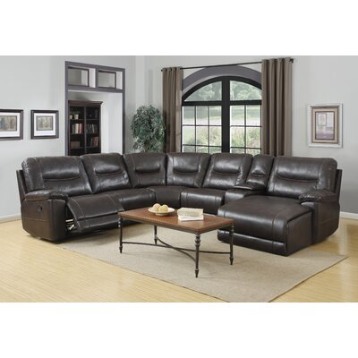Trower Upholstered Living Room Reclining Sectional