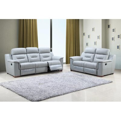 Kreger Air Upholstered 2 Piece Living Room Set Upholstery: Gray